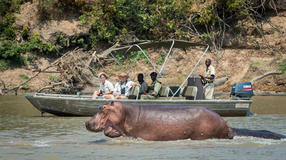 Zambia Bootsausflug auf dem Luangwa Fluss