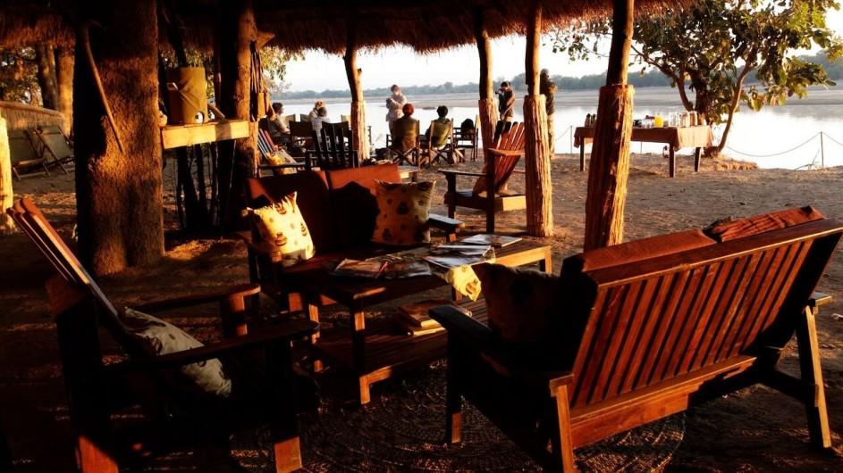 Zambia Island Bush Lodge Lounge