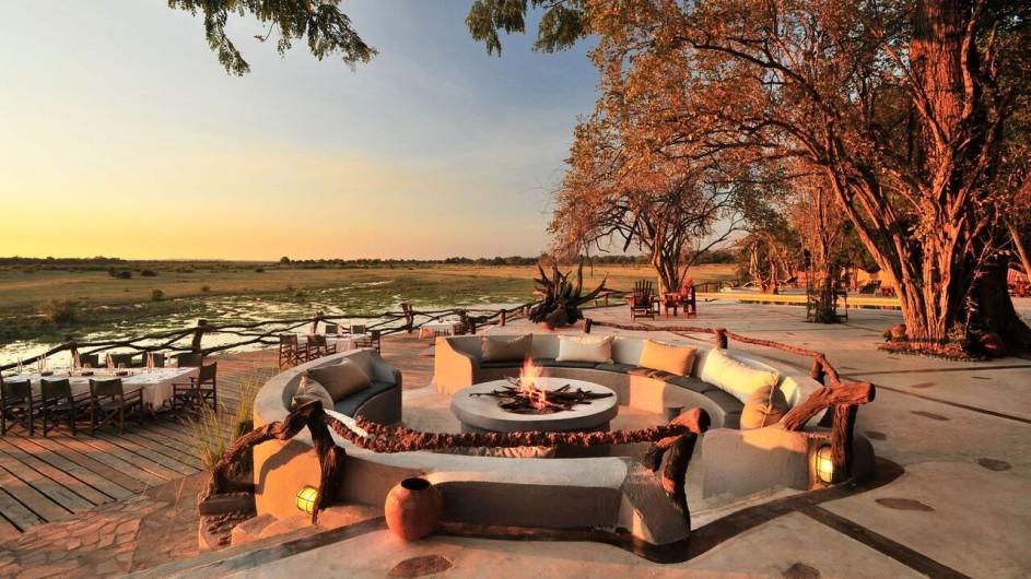 Zambia Kafunta River Lodge Lagerfeuer