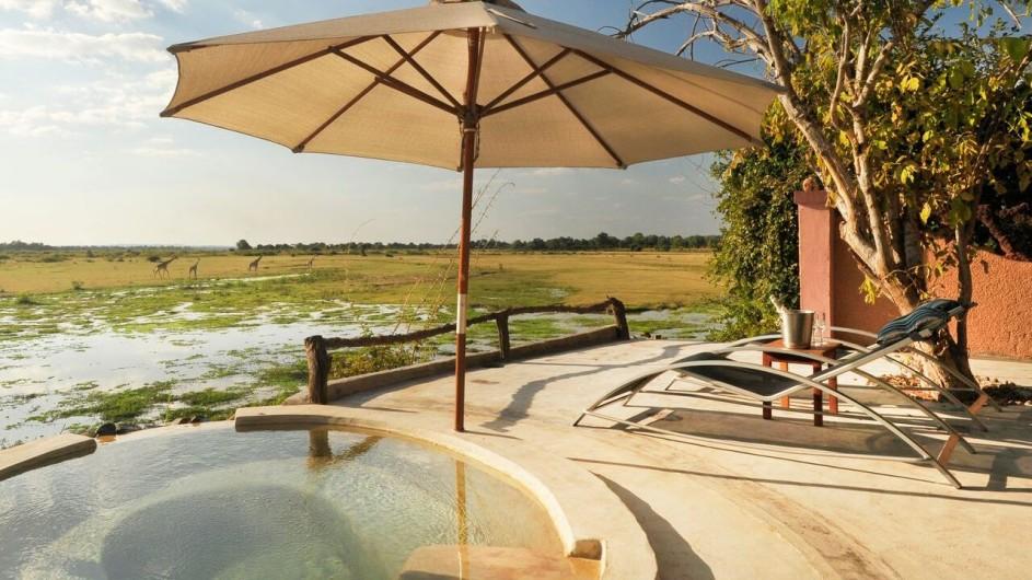 Zambia Kafunta River Lodge Pool