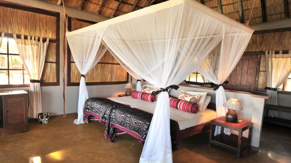 Zambia Kafunta River Lodge Zimmer