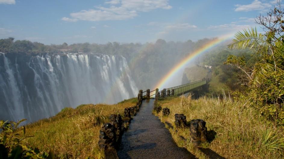 Zambia Livingstone Victoria Wasserfälle