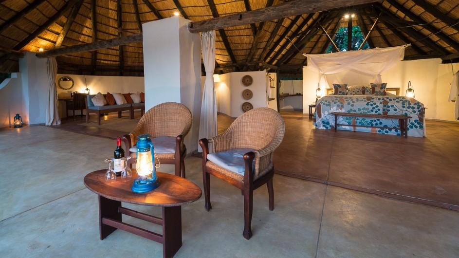 Zambia Nkwali Camp Zimmer Ansicht