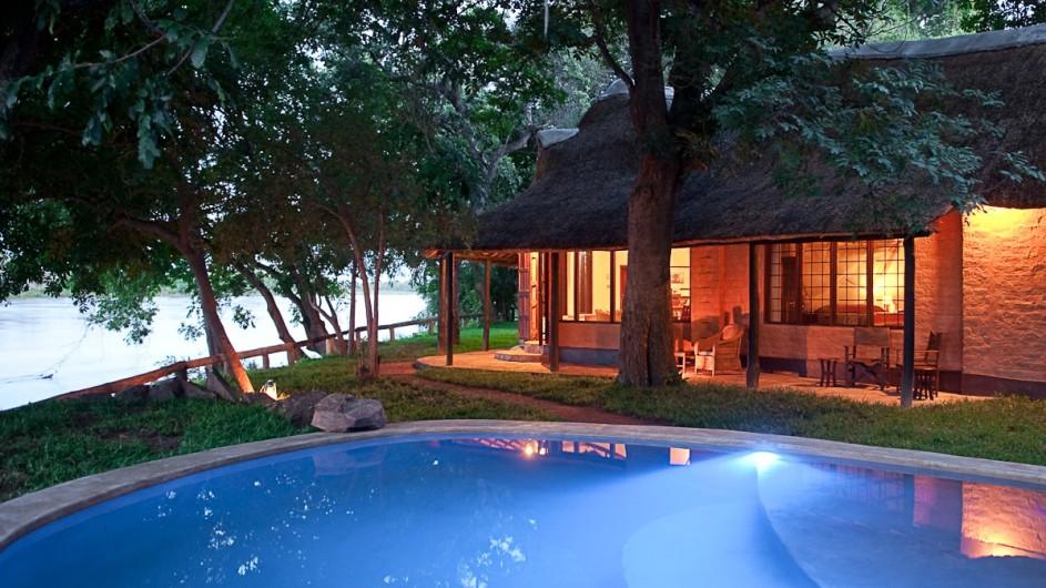 Zambia Robins House Ansicht mit Pool