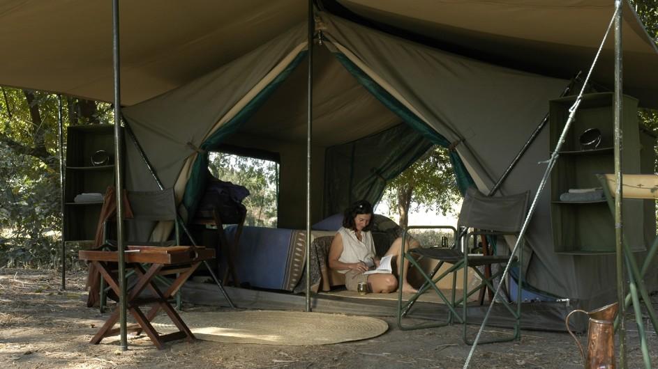 Zambia WAndersafari Mobiles Camp Zelt
