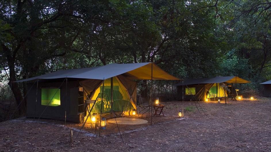 Zambia Wandersafari Mobiles Camp Zeltplatz
