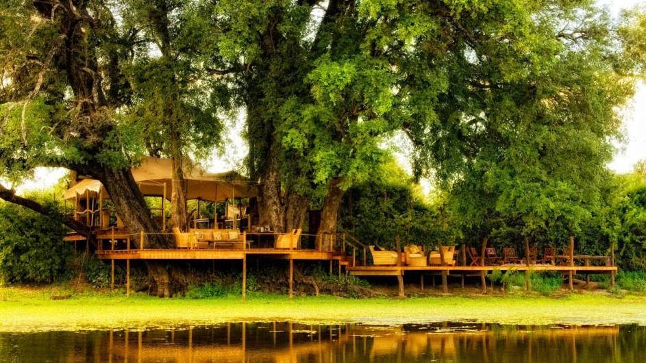 Zimbabwe Kanga Camp Campansicht