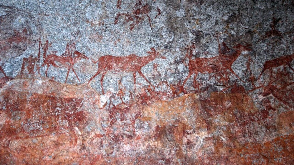 Zimbabwe Big Cave Camp Höhlenmalerei
