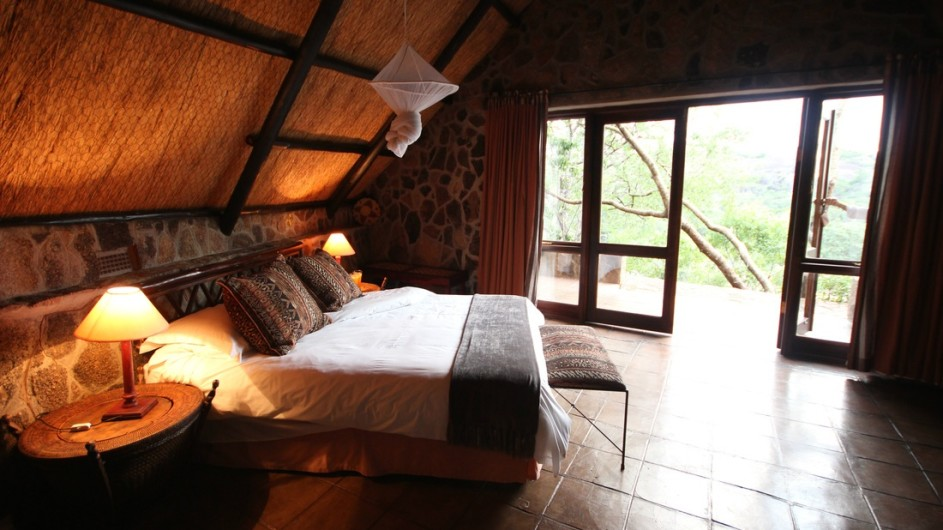 Zimbabwe Big Cave Camp Lodge Zimmer inne