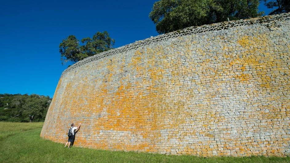 Zimbabwe Great Zimbabwe Ruins Mauer