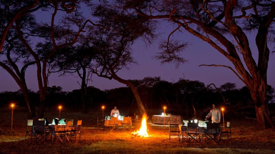 Zimbabwe Hwangwe Safari Lodge Dinner