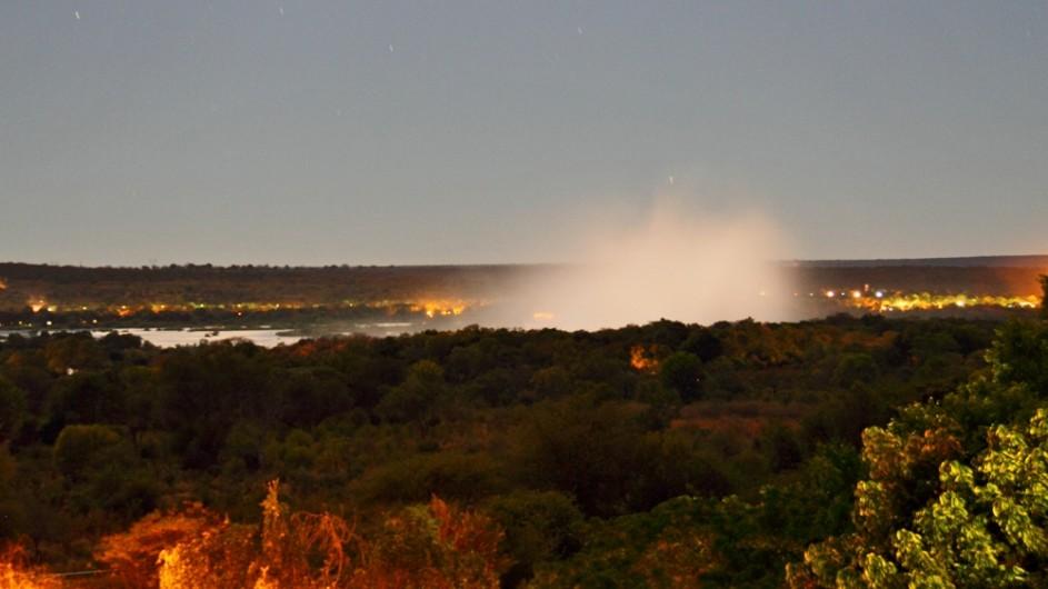 Zimbabwe RAinbow Hotel Ausblick auf die Victoria Wasserfälle
