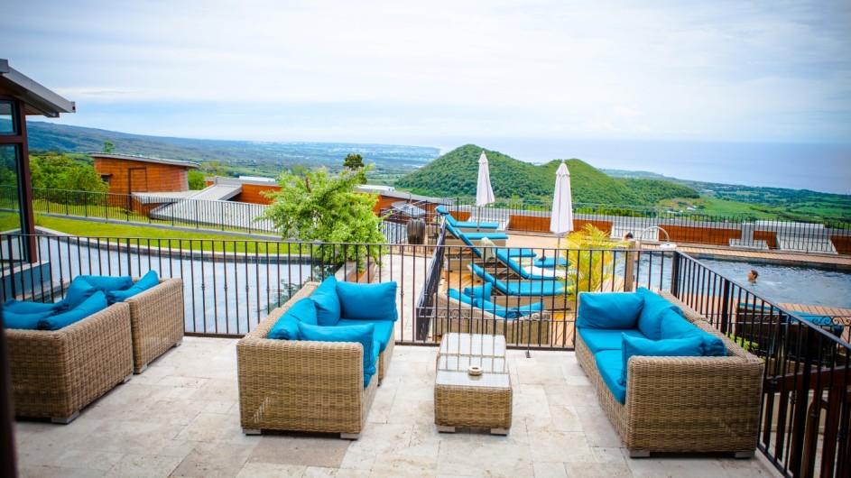 La Reunion Diana Dea Lodge Terrasse und Pool