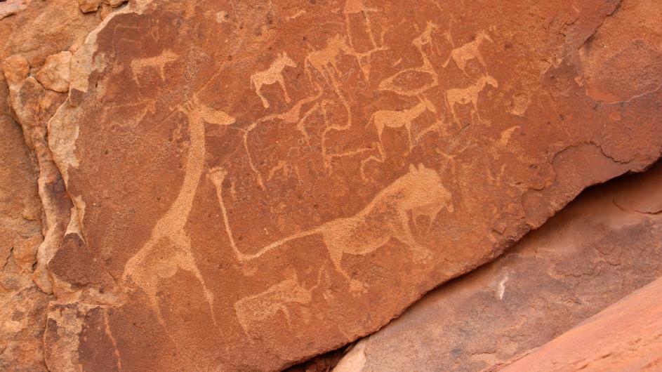 Namibia Twyfelfontain Flesgavuren