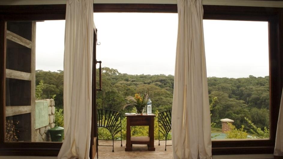 Tanzania Endoro Lodge Zimmer Ausblick