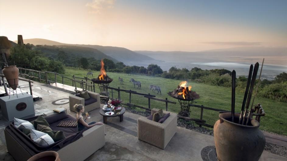 Tanzania Ngorongoro Crater Lodge Terrasse