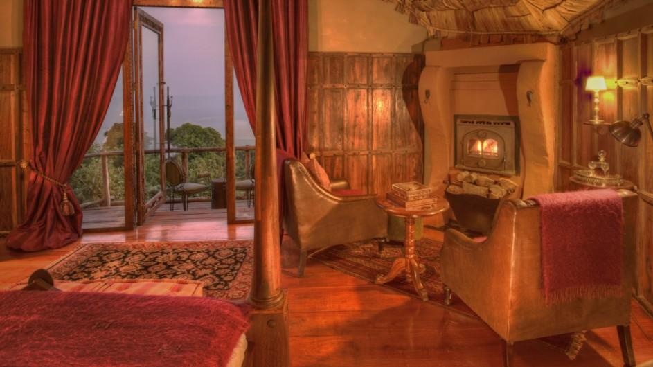 Tanzania Ngorongoro Crater Lodge Zimmer