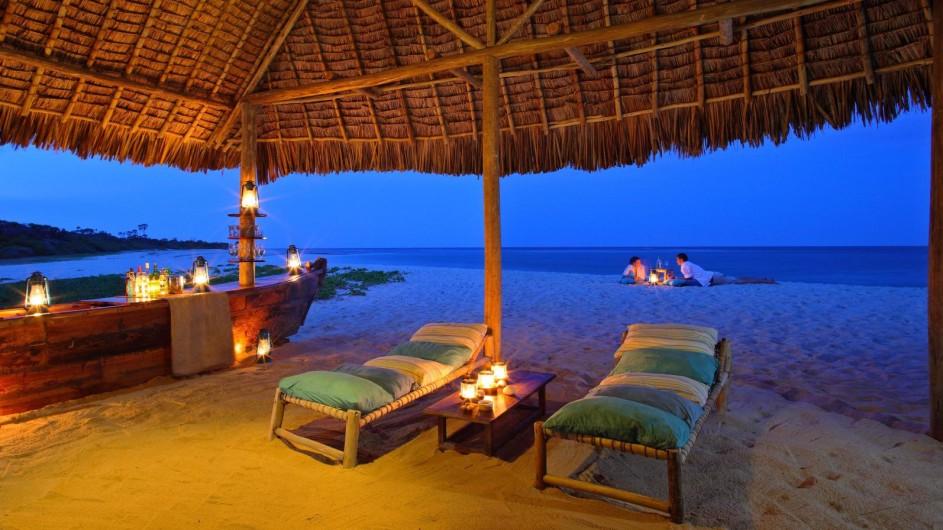 Tanzania Ras Kutani Strand am Abend