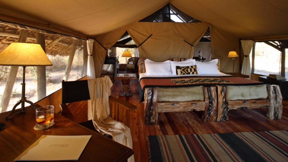 Tanzania Ruaha Nationalpark Jongomero Camp Zelt