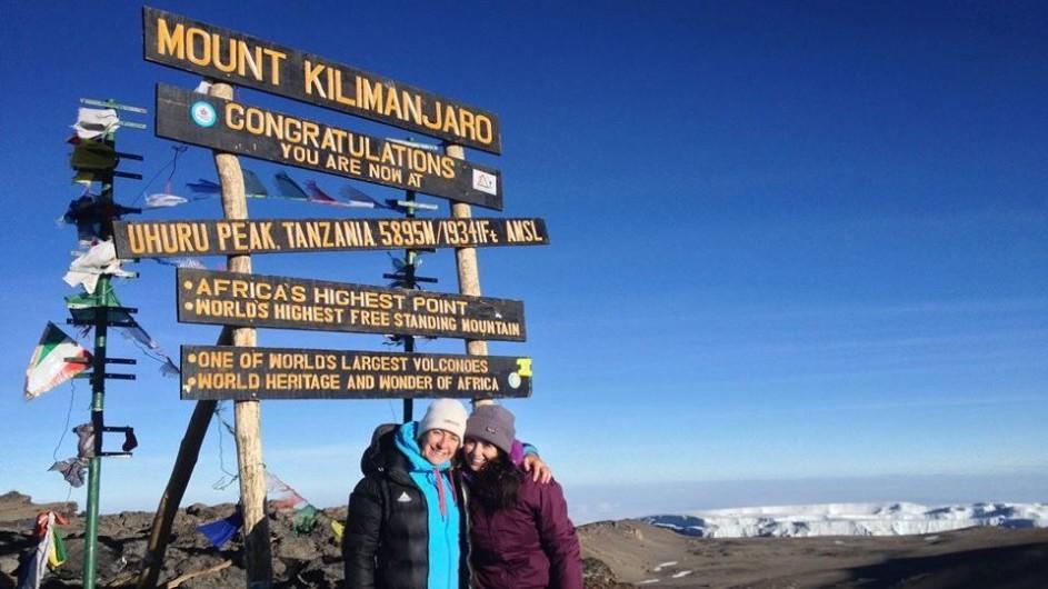 Tanzania Kilimanjaro Trekking auf dem Gipfel