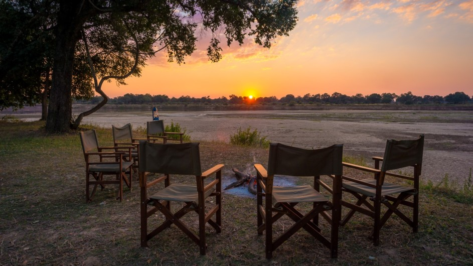 Zambia Luangwa River Camp Lagerfeuer