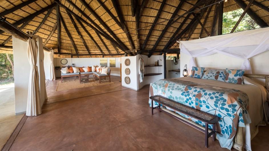 Zambia Nkwali Zimmer innen