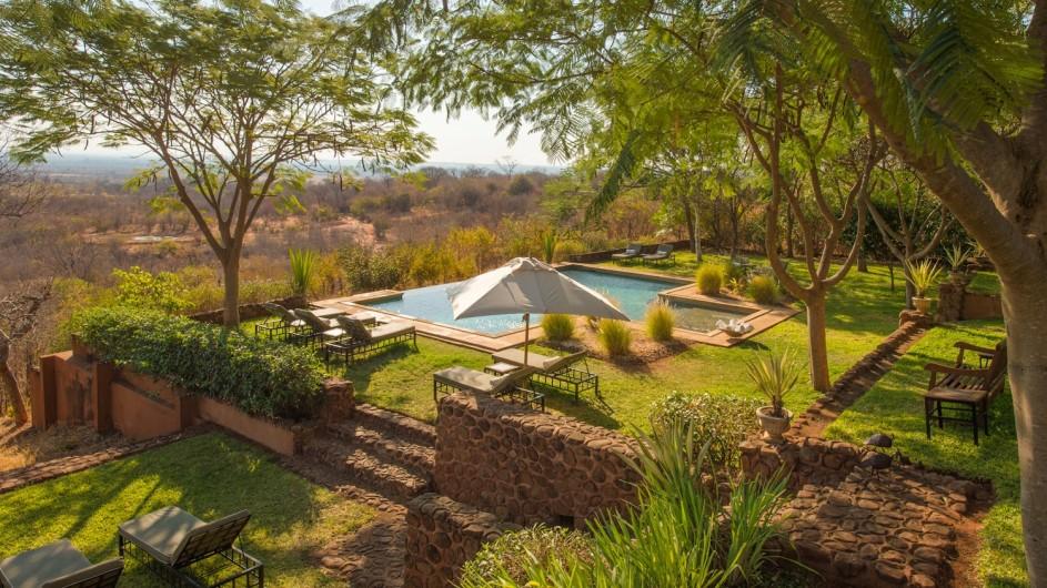 Zambia Stanley Safari Lodge Garten
