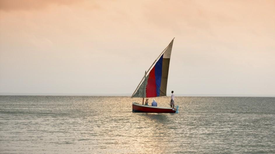 Mozambique Benguerra Island Lodge Dhow Fahrt