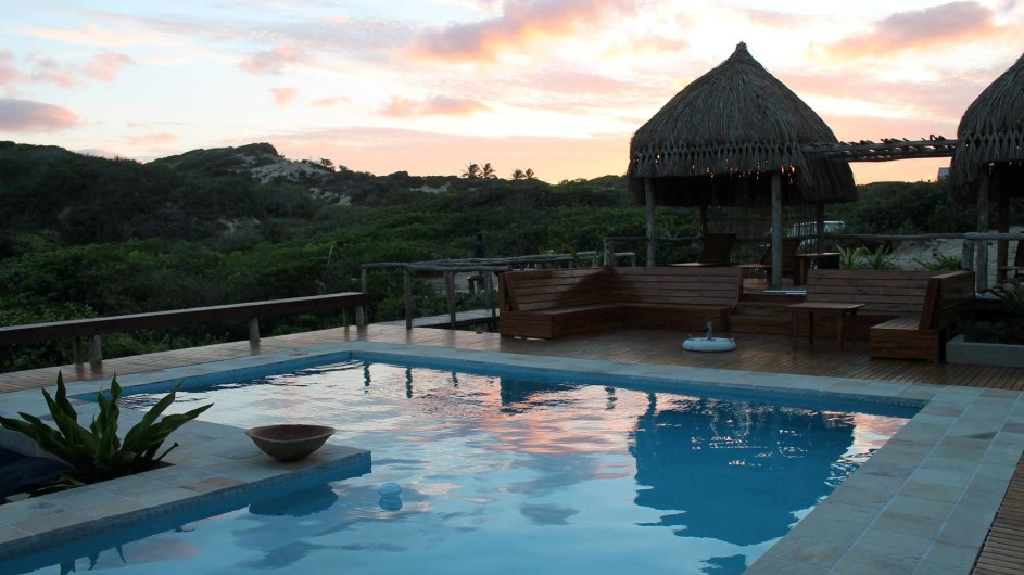 Mozambique Praia do Barra Blue Footprints Eco Lodge Pool
