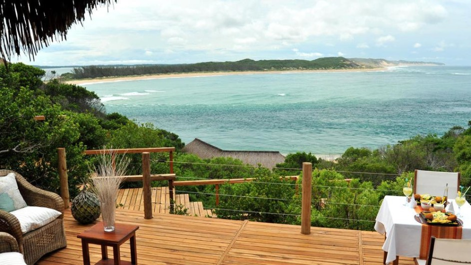 Mozambique Santa Maria Peninsula Machangulu Beach Lodge Terrasse