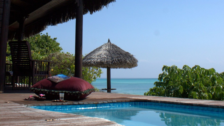 Mozambique Anantara Resort Medjumbe Island Beach Insel private Terrasse mit Pool
