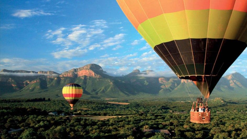 Südafrika Hazyview Perry Bridge Hollow Ausflug Ballonfahrt