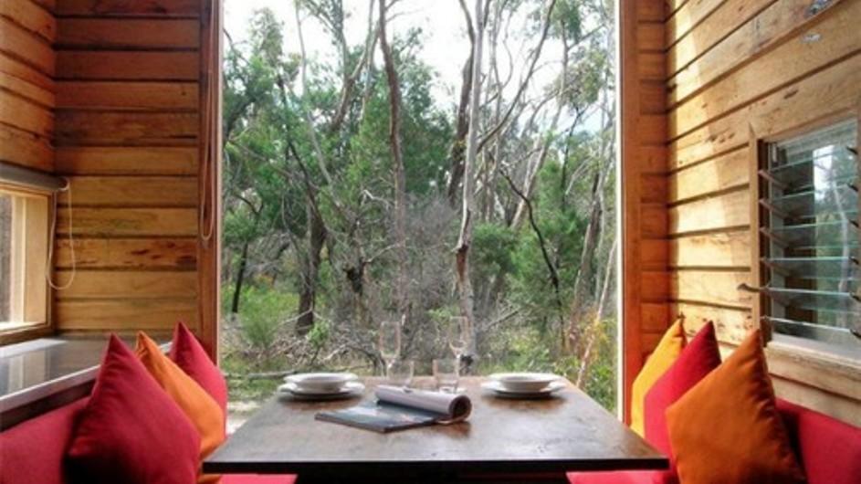 Australien Grampian Nationalpark DULC Holiday Cabins Esszimmer