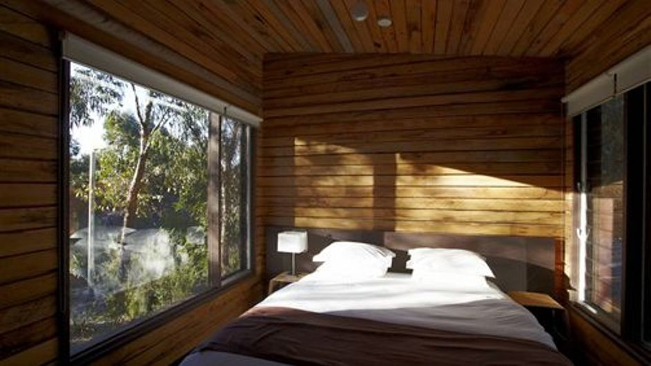 Australien Grampian Nationalpark DULC Holiday Cabins Mountain View Schlafzimmer