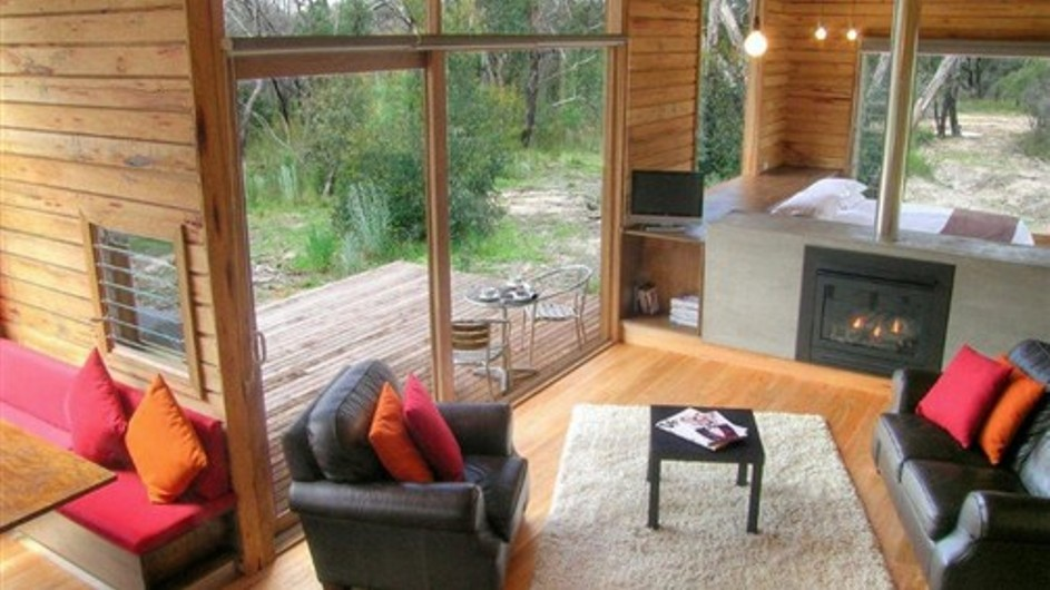 Australien Grampian Nationalpark DULC Holiday Cabins Wohnraum