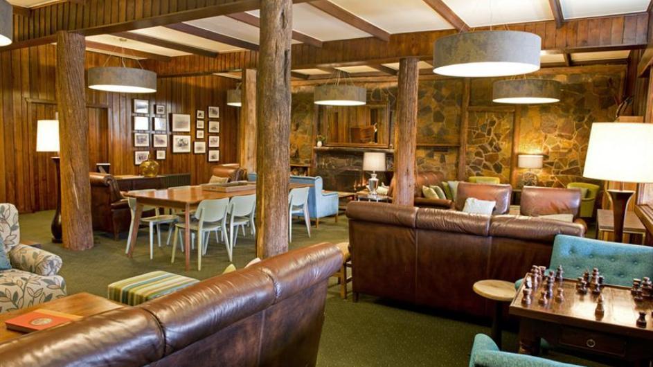 Australien Tasmanien Peppers Cradle Mountain Lodge Lounge