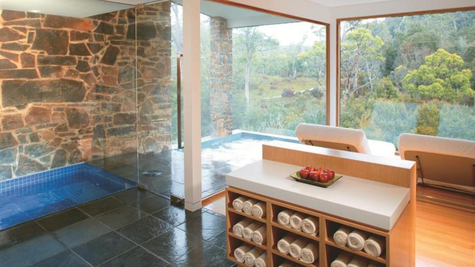 Australien Tasmanien Peppers Cradle Mountain Lodge Waldheim Spa