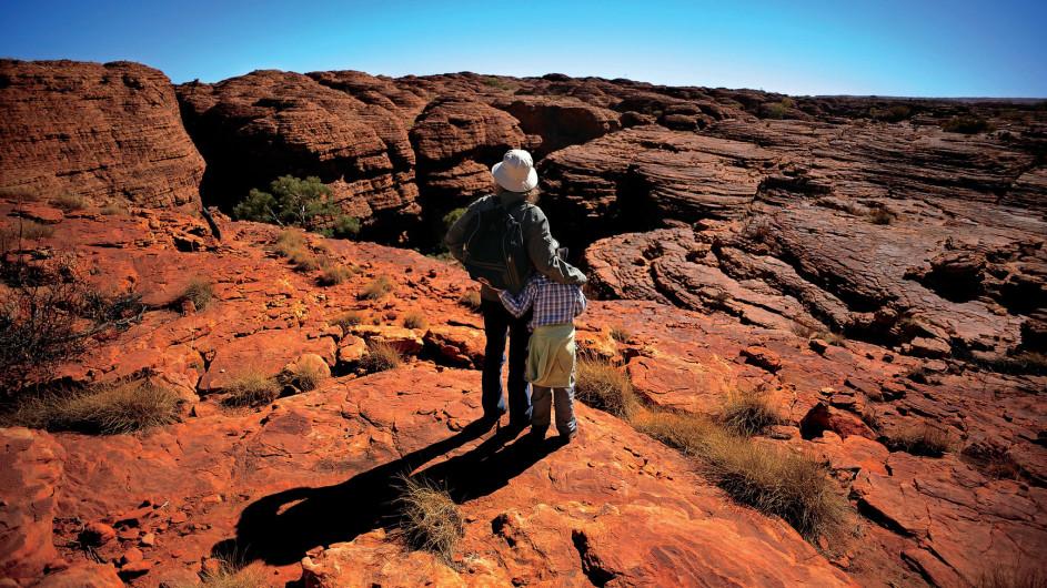 Australien Kings Canyon Aussicht