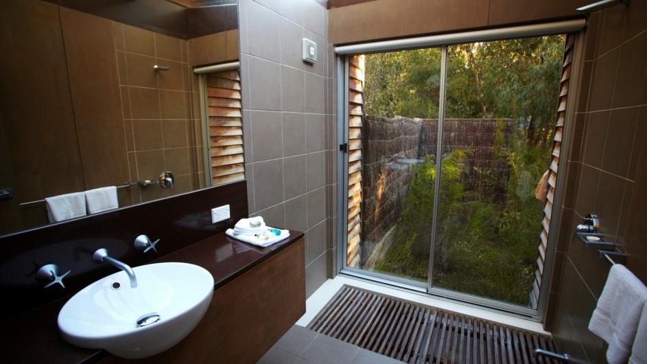 Australien Grampian Nationalpark DULC Holiday Cabins Badezimmer