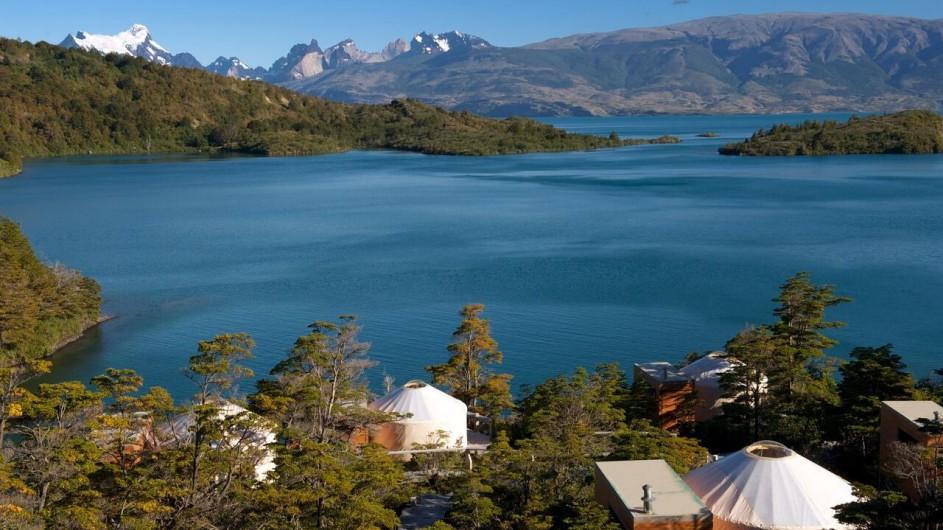 Chile Patagonia Camp Torres del Paine Camp mit Aussicht
