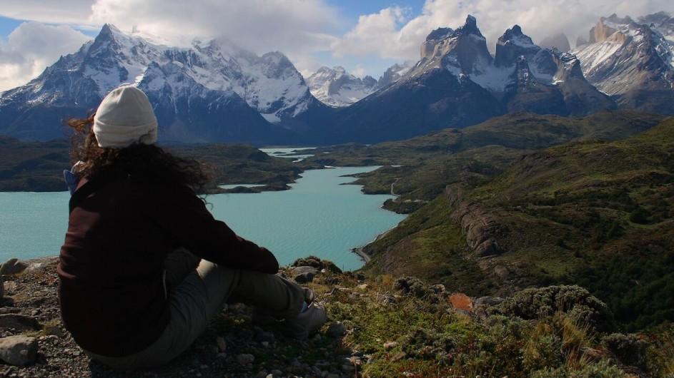 Chile Torres del Paine Patagonia Camp Pause mit Aussicht