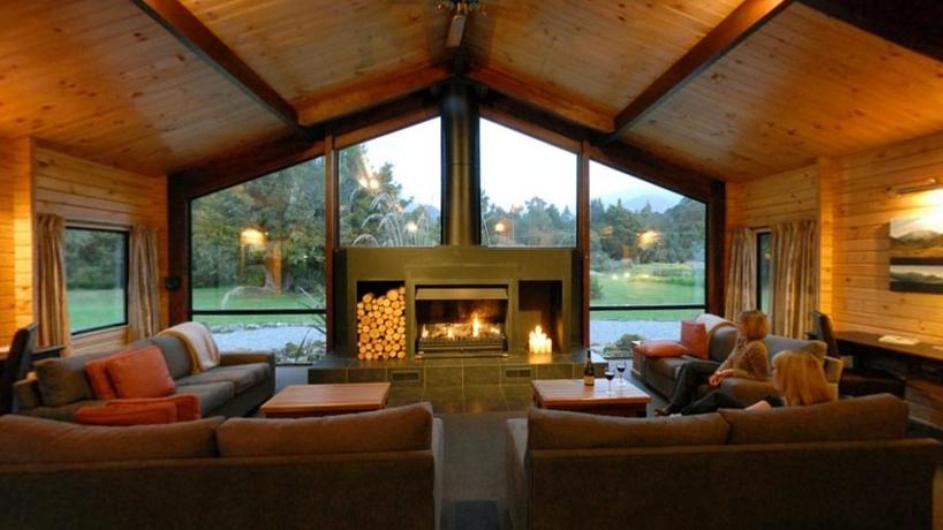 Neuseeland Franz Josef Gletscher Westwood Lodge Lounge