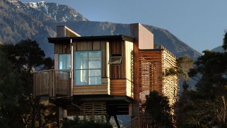 Neuseeland Kaikoura Hapuku Lodge Baumhaus