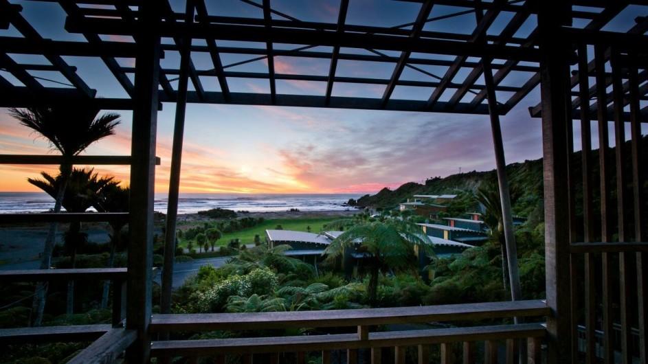 Neuseeland Westküste Punakaiki Resort Aussicht