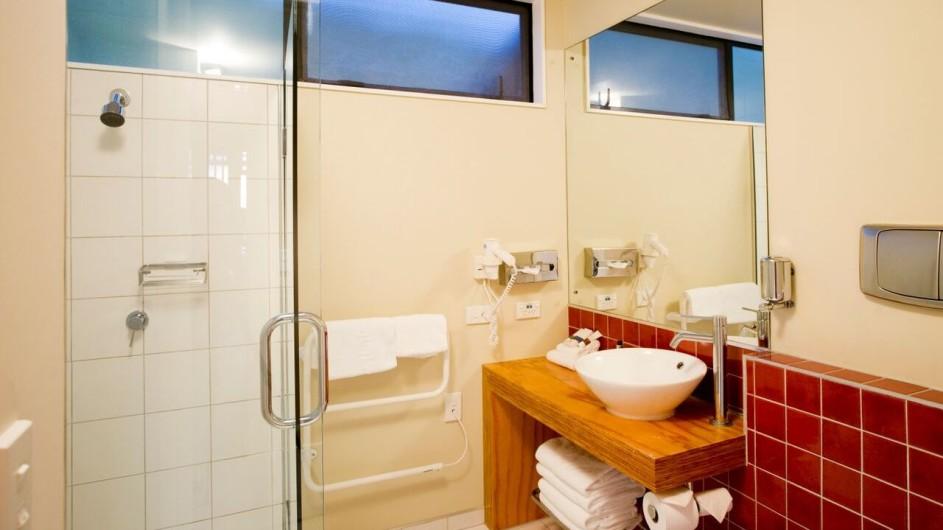 Neuseeland Westküste Punakaiki Resort Badezimmer