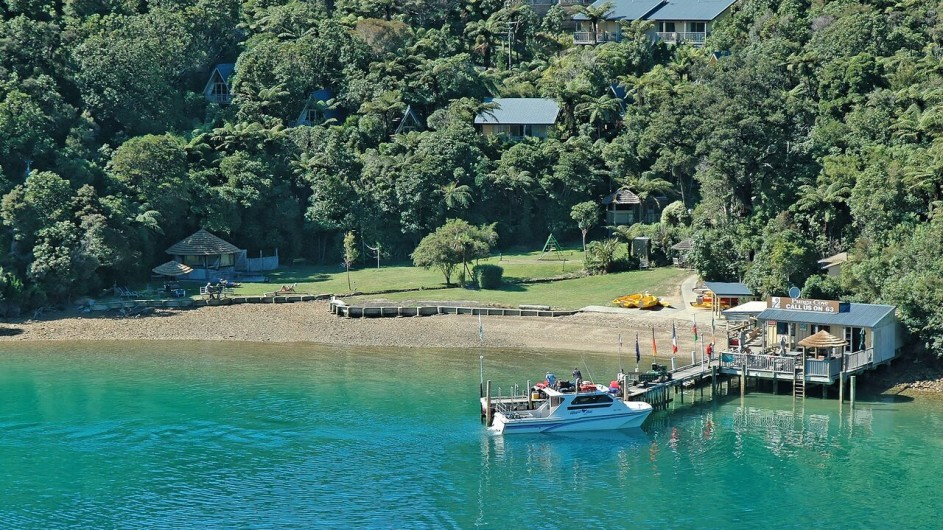 Neuseeland Marlborough Sound Punga Cove Resort Ankunft