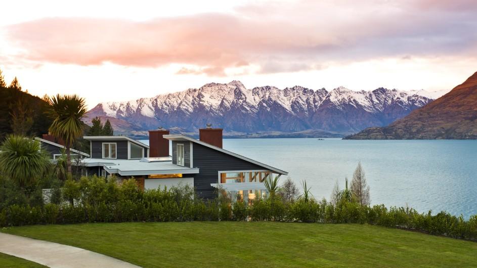 Neuseeland Queenstown Matakauri Lodge Außenansicht