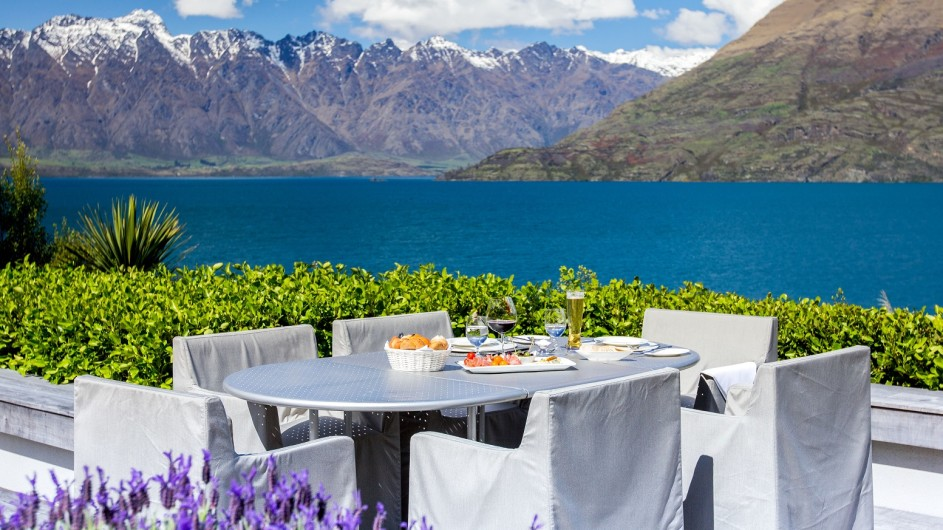 Neuseeland Queenstown Matakauri Lodge Lunch mit Aussicht