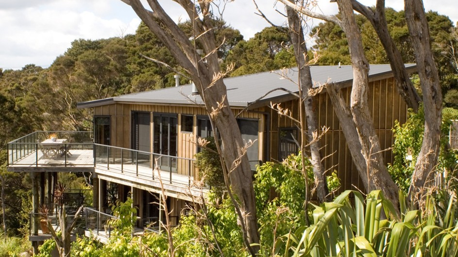 Neuseeland Sanctuary Bay of Islands Lodge Ansicht