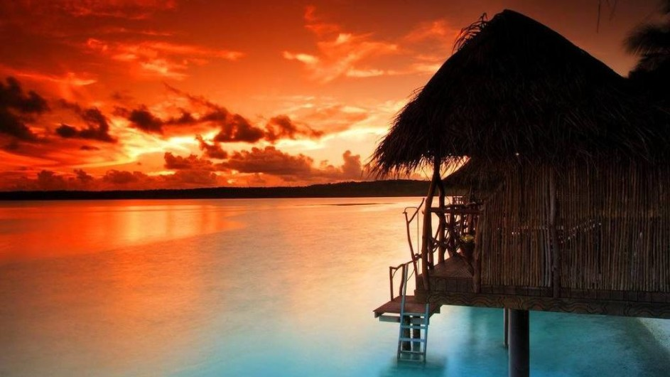 Cook Inseln Aitutaki Lagoon Resort Overwater Bungalow